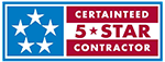 Certainteed 5 Star logo